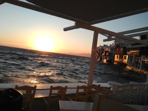 Little Venice sunset, Mykonos