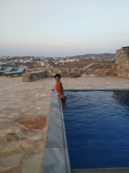 RY boys' beautiful villa pool