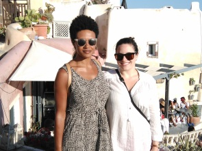 Angela and I in Oia