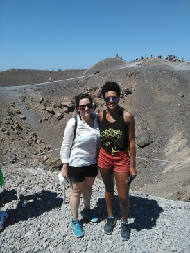 On Nea Kameni, the active volcano in Santorini
