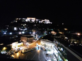 View of Monastiraki and the Acropolis from A for Athens