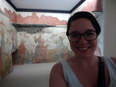 Frescoes of Akrotiri at the National Archeological Museum