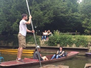 Punting in Oxford! Derryl, me and Miranda