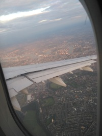 Flying into London with great views
