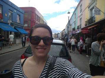 Walking around Notting Hill's Portobello Road market