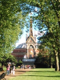 Royal Albert Hall, which had its roof painted black during WWII