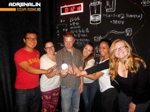 Escaping the room! Charles, me, Matt, Melissa, Julianne, Natalie