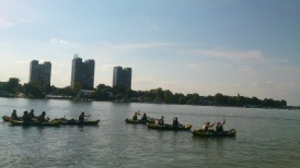 On the Danube! I'm all the way in front :)