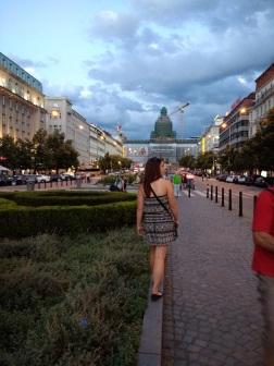 Kelly in Wenceslas Square