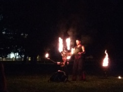 Fire dancers? Why not?