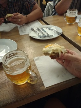 Pub crawl, featuring hermelin: pickled cheese. YUM.