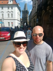 Brecht and I exploring Prague