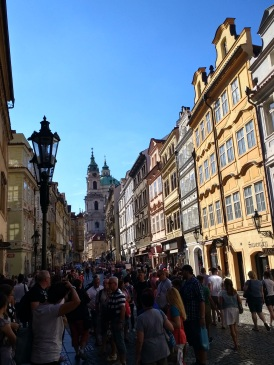 Yes, the Prague tourist frenzy is real