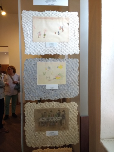 Children's drawings at Terezin