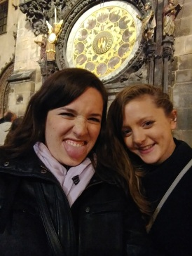 Signe (my other roommate this month) and I at the Astronomical Clock