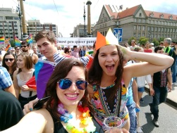 Kirsten and I at the Pride Parade