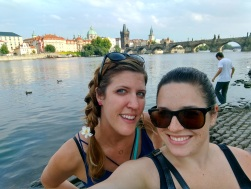 Arestia and I on the banks of the Vltava