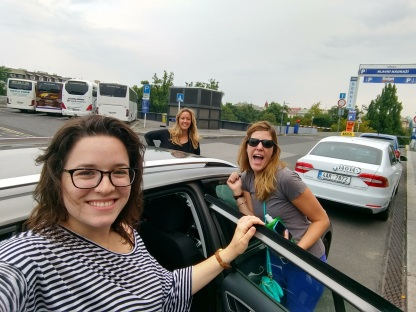 On our way to Bratislava! With Michelle and Arestia