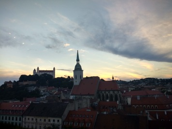 Sunset over Bratislava