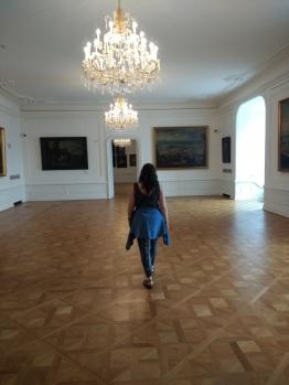 Chandeliers inside Bratislava castle