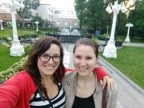 Lena and I pre-ballet