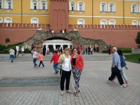 My aunt and I at the old Kremlin wall