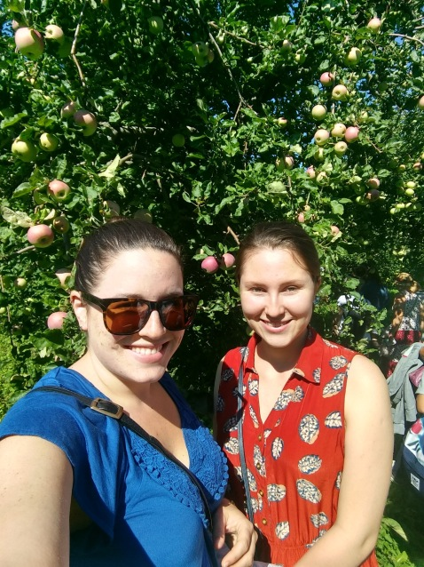 Apple picking with Lena at MSU's botanical garden