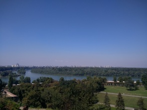 View of the confluence of the Sava & Danube