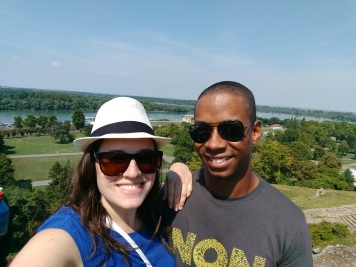 Sean and I overlooking the confluence