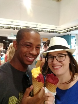Ice cream to close out our food tour