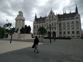On our way to Budapest Parliament
