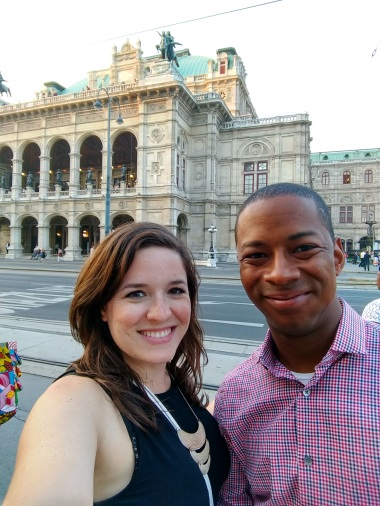 All dressed up and ready for the opera! (Vienna)