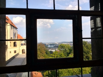 The window in Prague Castle from which bad politicians were thrown!