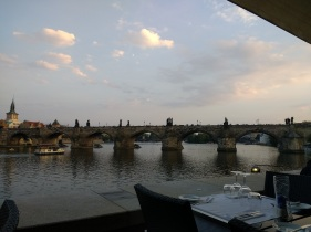 Charles Bridge from Hergetova Citelna dinner