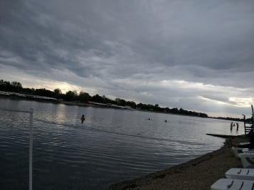 Lake Ada! And a storm coming in.