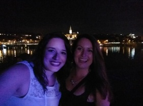 Kelly and I with the Belgrade skyline