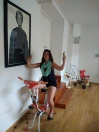 Kelly on a bike...