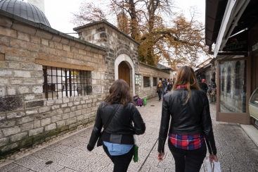 Arestia and I in Old Sarajevo