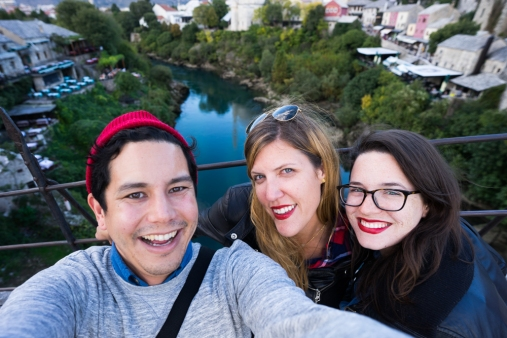 Mike, Arestia and I in Mostar