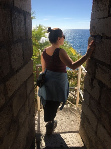 Peering out over Dubrovnik