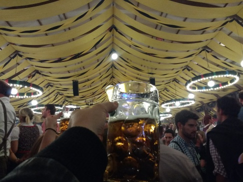 Prost! Beautiful tents at Oktoberfest