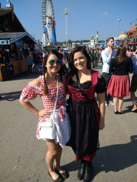 Kelly and I in our Dirndls...