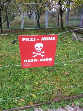 Signs from Bosnian countryside, memorialized