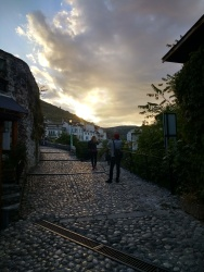 Adorable Mostar at sunset