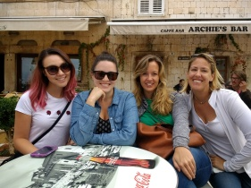 Ladies in Hvar Town (Melissa, me, Michelle, Diane)