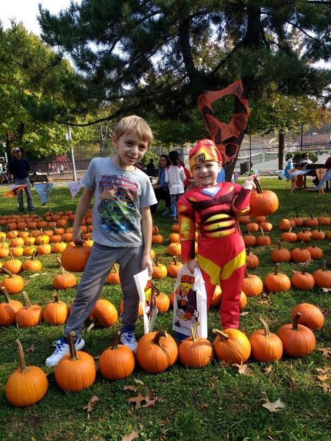 My favorite boys pumpkin-picking