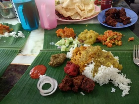 Banana leaf at Devi's Corner
