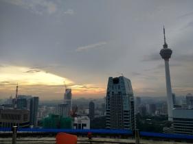 Sunset views atop Heli Lounge