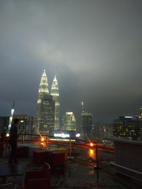 Petronas Towers & fog from Heli Lounge