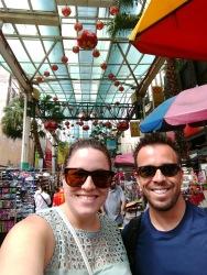 Petaling Street market with Eric